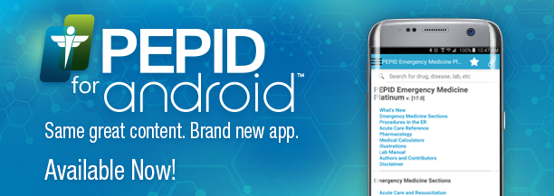 PEPID for Android. Redesigned.